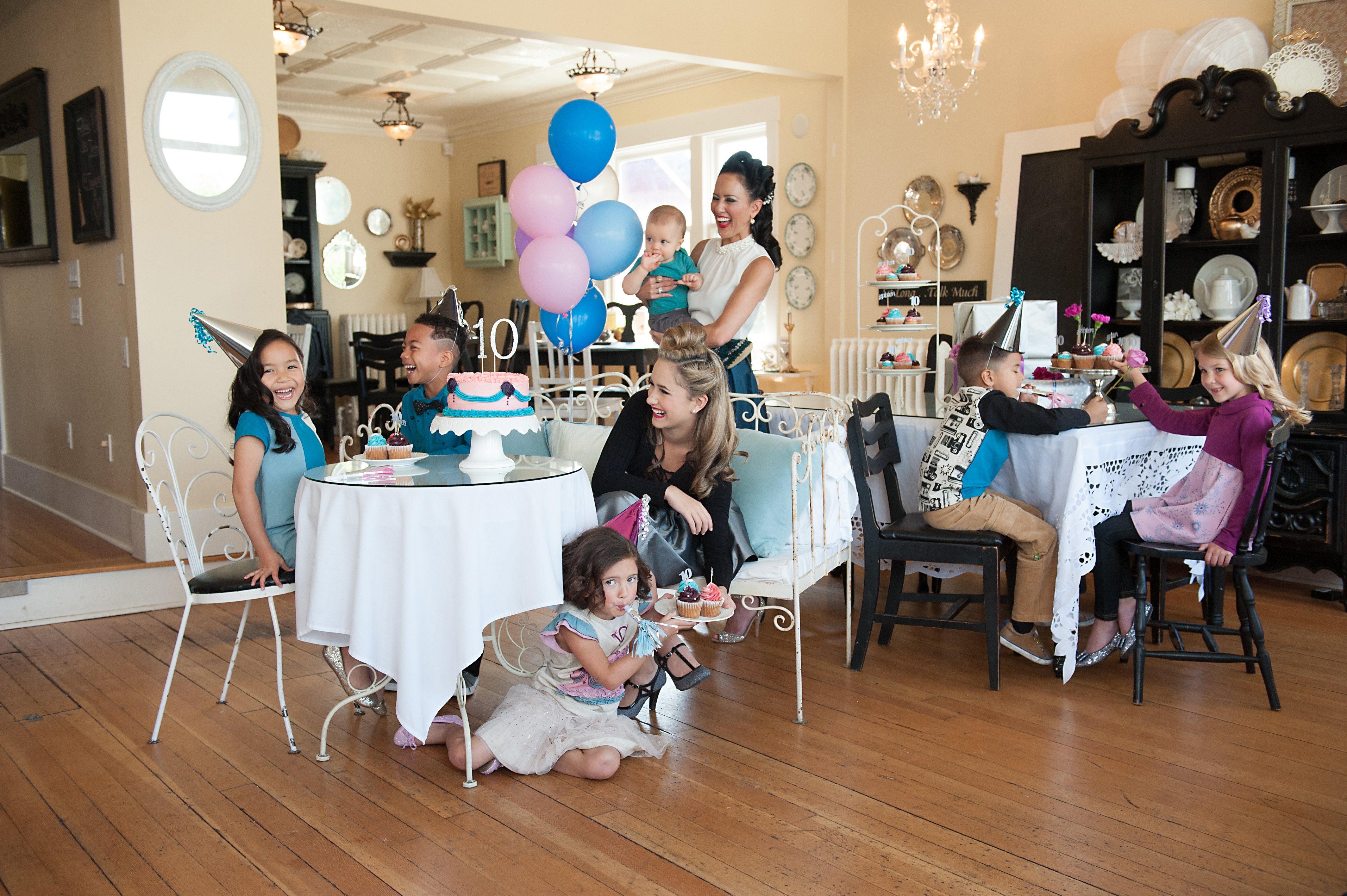 Peakaboo Beans 10th anniversary party with mompreneur Traci Costa