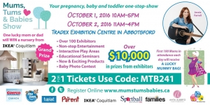 Mums, Tums, Babies Show – Oct 1 and 2