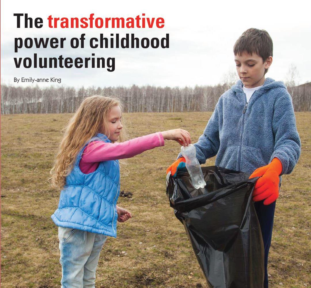 children volunteering