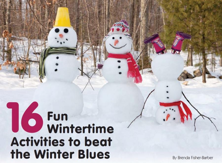 Winter Activities - building snowmen