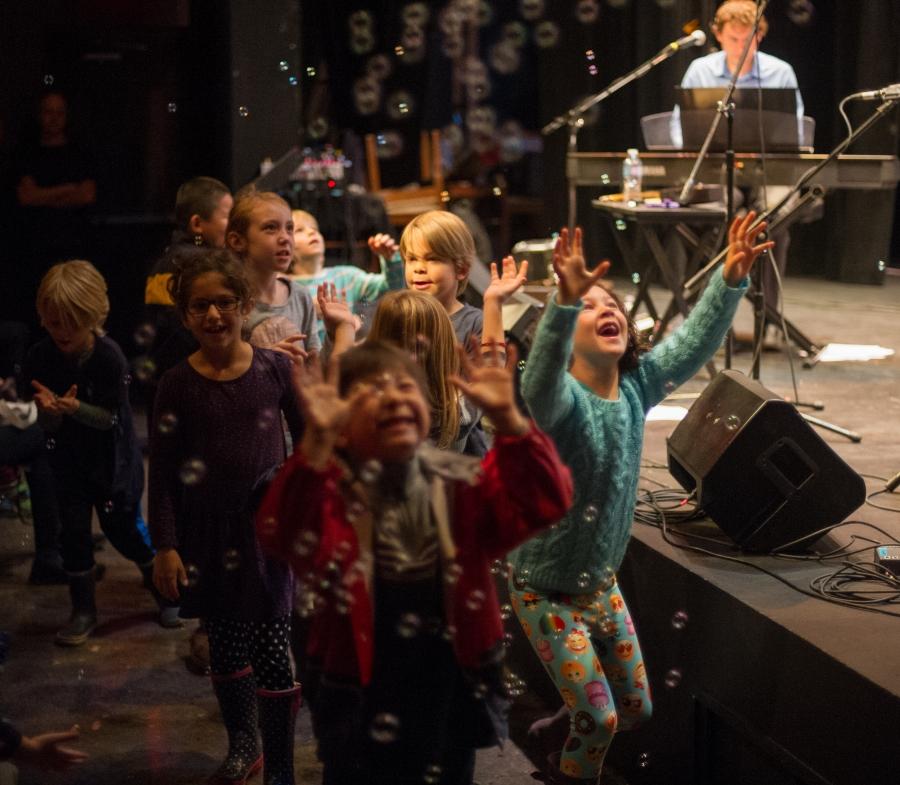 Kids at Jennifer Gasoi Writers Fest